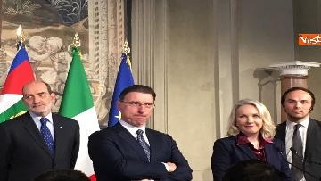 7 - Consultazioni, il gruppo per le Autonomie del Senato a margine del colloquio con Mattarella immagini