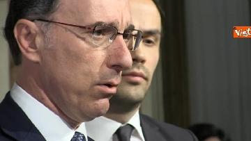 6 - Consultazioni, il gruppo per le Autonomie del Senato a margine del colloquio con Mattarella immagini