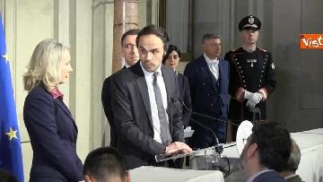 4 - Consultazioni, il gruppo per le Autonomie del Senato a margine del colloquio con Mattarella immagini