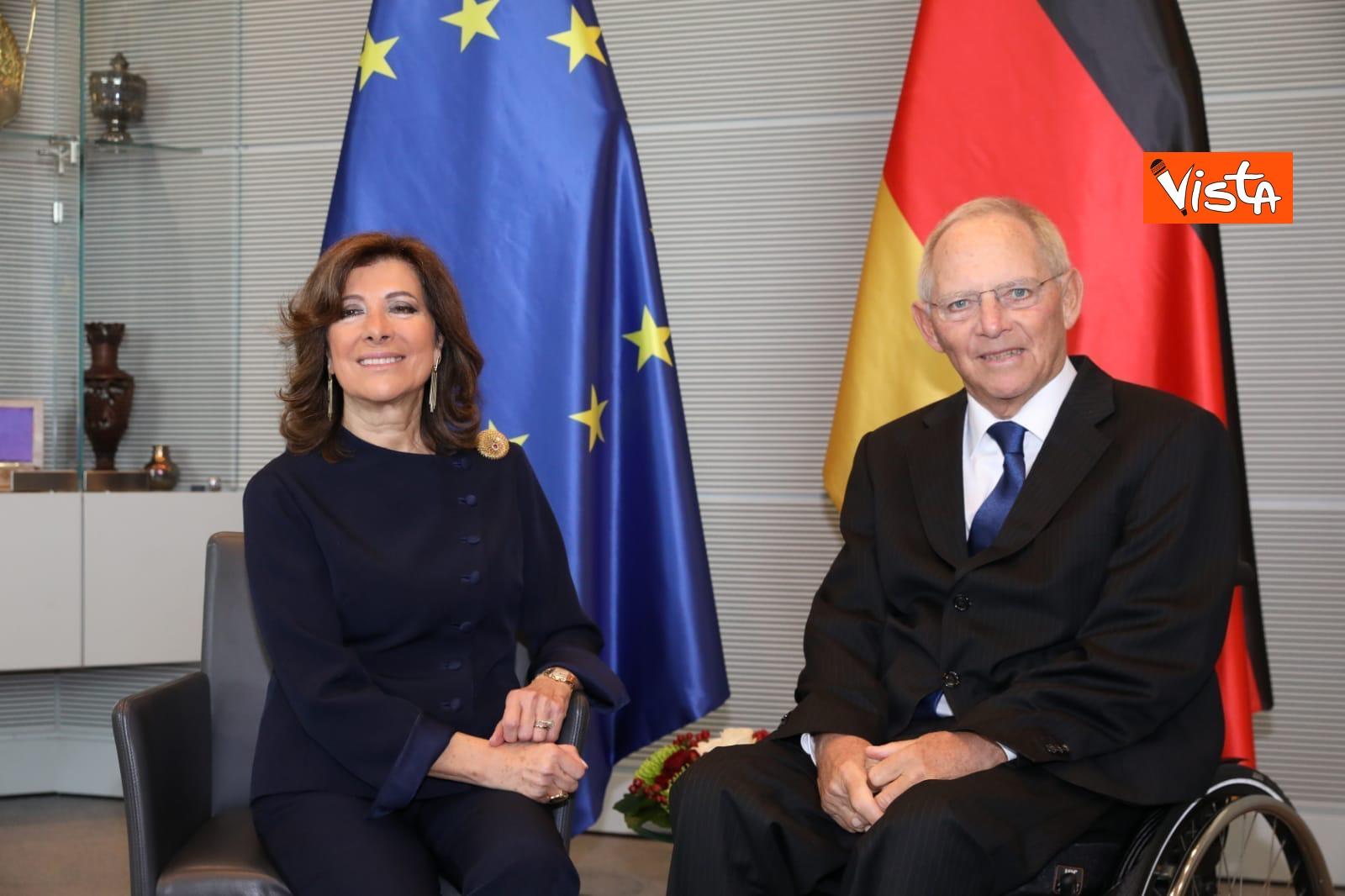 Casellati incontra il presidente del Bundestag Schauble a Berlino