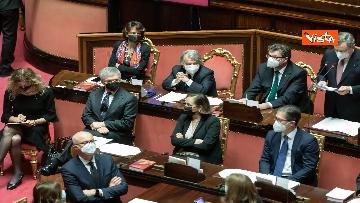 2 - Ecco il Governo Draghi al completo in Aula al Senato il giorno della fiducia