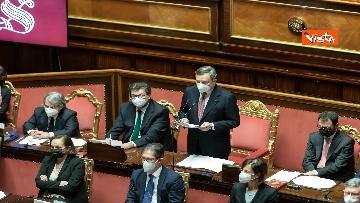 1 - Ecco il Governo Draghi al completo in Aula al Senato il giorno della fiducia