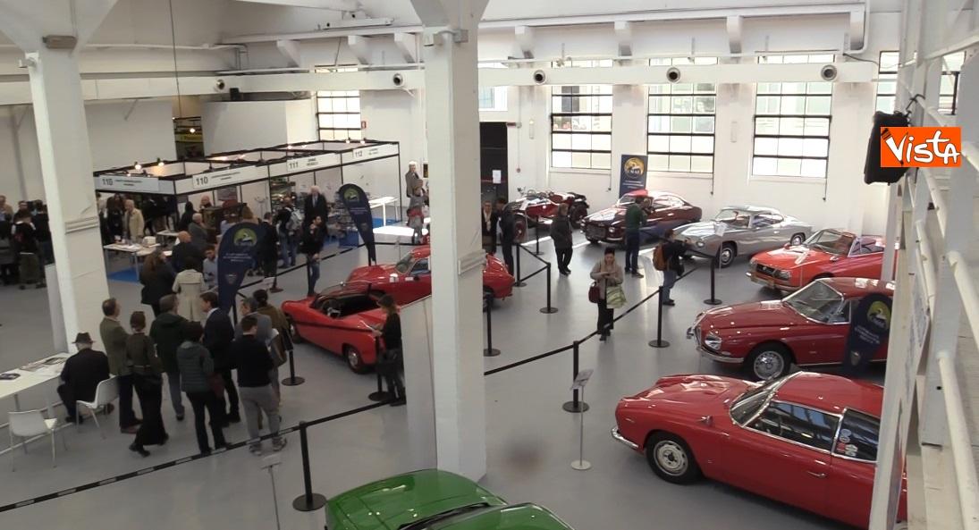 le auto storiche esposte alla manifestazione filatelica nazionale
