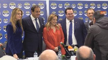 3 - Conferenza stampa Fratelli d'Italia per le elezioni suppletive, le immagini
