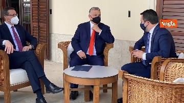 5 - Salvini incontra il primo ministro ungherese Orban e quello polacco Morawieck. Le immagini