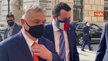 2 - Salvini incontra il primo ministro ungherese Orban e quello polacco Morawieck. Le immagini