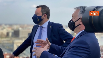 6 - Salvini incontra il primo ministro ungherese Orban e quello polacco Morawieck. Le immagini