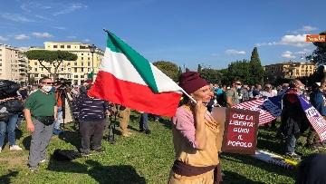 9 - Sovranisti e negazionisti Covid in piazza a Roma, le foto