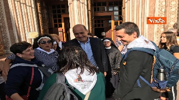 5 - Zingaretti visita la Basilica di San Francesco d'Assisi