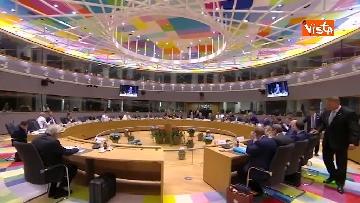8 - Al via il secondo giorno del Consiglio Europeo, immagini