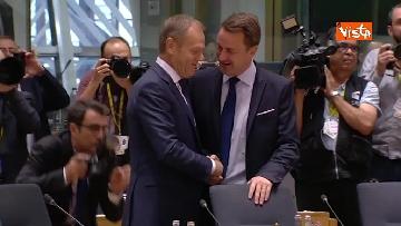 3 - Al via il secondo giorno del Consiglio Europeo, immagini