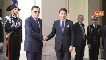10 - Libia, Conte riceve Fayez al Serraj a Palazzo Chigi