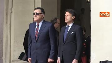 9 - Libia, Conte riceve Fayez al Serraj a Palazzo Chigi