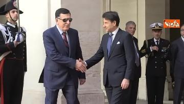 11 - Libia, Conte riceve Fayez al Serraj a Palazzo Chigi