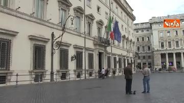 1 - Salvini, Costa e Savona lasciano Palazzo Chigi dopo il Consiglio dei Ministri
