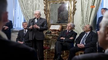 4 - 150 anni Federazione Ginnastica d'Italia, Mattarella incontra delegazione guidata da Malagò e Tecchi