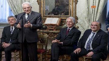 3 - 150 anni Federazione Ginnastica d'Italia, Mattarella incontra delegazione guidata da Malagò e Tecchi
