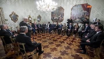 2 - 150 anni Federazione Ginnastica d'Italia, Mattarella incontra delegazione guidata da Malagò e Tecchi