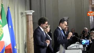 6 - M5S Di Maio, Toninelli e Giulia Grillo dopo l'incontro con Mattarella immagini
