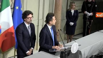 13 - M5S Di Maio, Toninelli e Giulia Grillo dopo l'incontro con Mattarella immagini