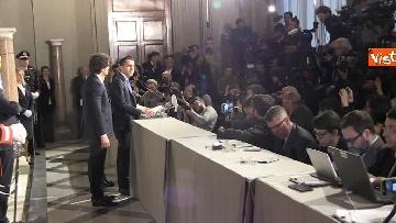 17 - M5S Di Maio, Toninelli e Giulia Grillo dopo l'incontro con Mattarella immagini