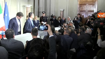 15 - M5S Di Maio, Toninelli e Giulia Grillo dopo l'incontro con Mattarella immagini