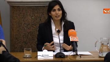 2 - Raggi alla conferenza stampa per lo sblocco dei lavori in via Tiburtina