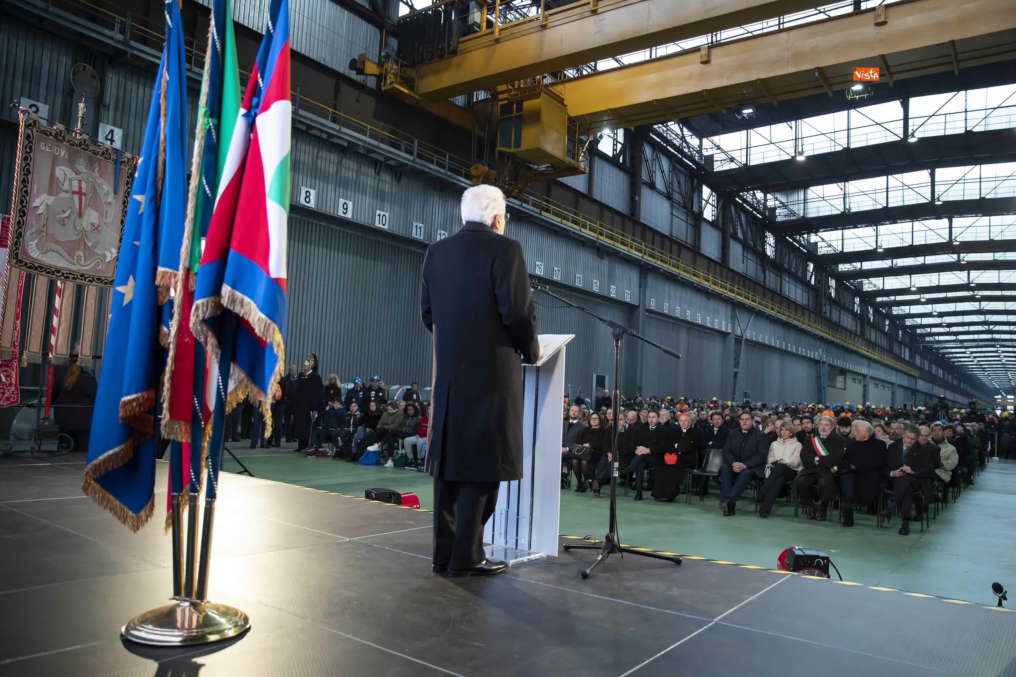 23-01-19 Mattarella a Cornigliano partecipa a commemorazione 40 anni da omicidio Guido Rossa