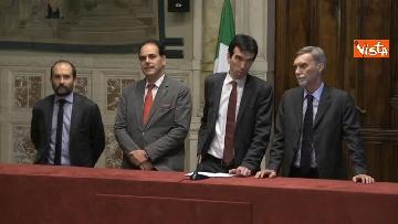 3 - 24-05-18 Consultazioni, la delegazione del Pd con Martina, Orfini, Marcucci, Delrio
