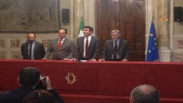 6 - 24-05-18 Consultazioni, la delegazione del Pd con Martina, Orfini, Marcucci, Delrio