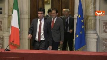 1 - 24-05-18 Consultazioni, la delegazione del Pd con Martina, Orfini, Marcucci, Delrio