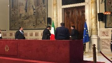 7 - 24-05-18 Consultazioni, la delegazione della Lega con Salvini, Giorgetti, Centinaio