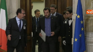 1 - 24-05-18 Consultazioni, la delegazione della Lega con Salvini, Giorgetti, Centinaio