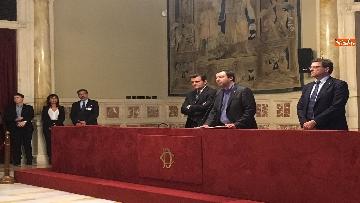 8 - 24-05-18 Consultazioni, la delegazione della Lega con Salvini, Giorgetti, Centinaio