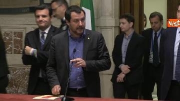 4 - 24-05-18 Consultazioni, la delegazione della Lega con Salvini, Giorgetti, Centinaio