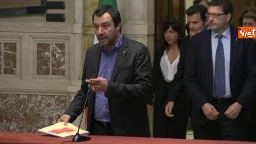 3 - 24-05-18 Consultazioni, la delegazione della Lega con Salvini, Giorgetti, Centinaio