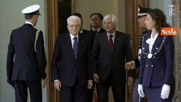 1 - Fico e Mattarella, l'incontro al Quirinale dopo la consultazioni con M5S e Pd