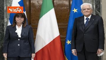 7 - Mattarella riceve la Presidente della Repubblica Ellenica Sakellaropoulou, le immagini