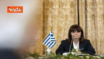 12 - Mattarella riceve la Presidente della Repubblica Ellenica Sakellaropoulou, le immagini