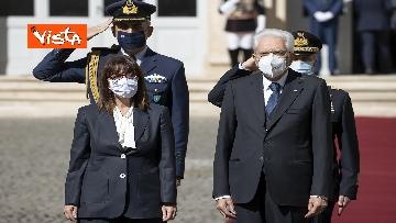 3 - Mattarella riceve la Presidente della Repubblica Ellenica Sakellaropoulou, le immagini