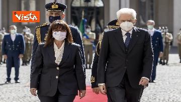 5 - Mattarella riceve la Presidente della Repubblica Ellenica Sakellaropoulou, le immagini
