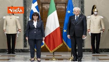 8 - Mattarella riceve la Presidente della Repubblica Ellenica Sakellaropoulou, le immagini