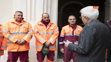 3 - Mattarella incontra alcuni detenuti del progetto di recupero del patrimonio ambientale