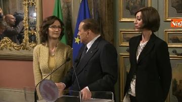 5 - Berlusconi, Bernini e Gelmini al termine delle Consultazioni al Senato