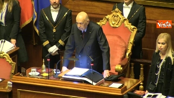 10 - Napolitano apre la prima seduta del Senato