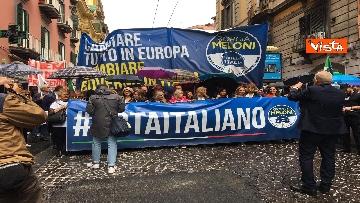 7 - Europee, Meloni chiude campagna elettorale a Napoli, il corteo per le strade della città