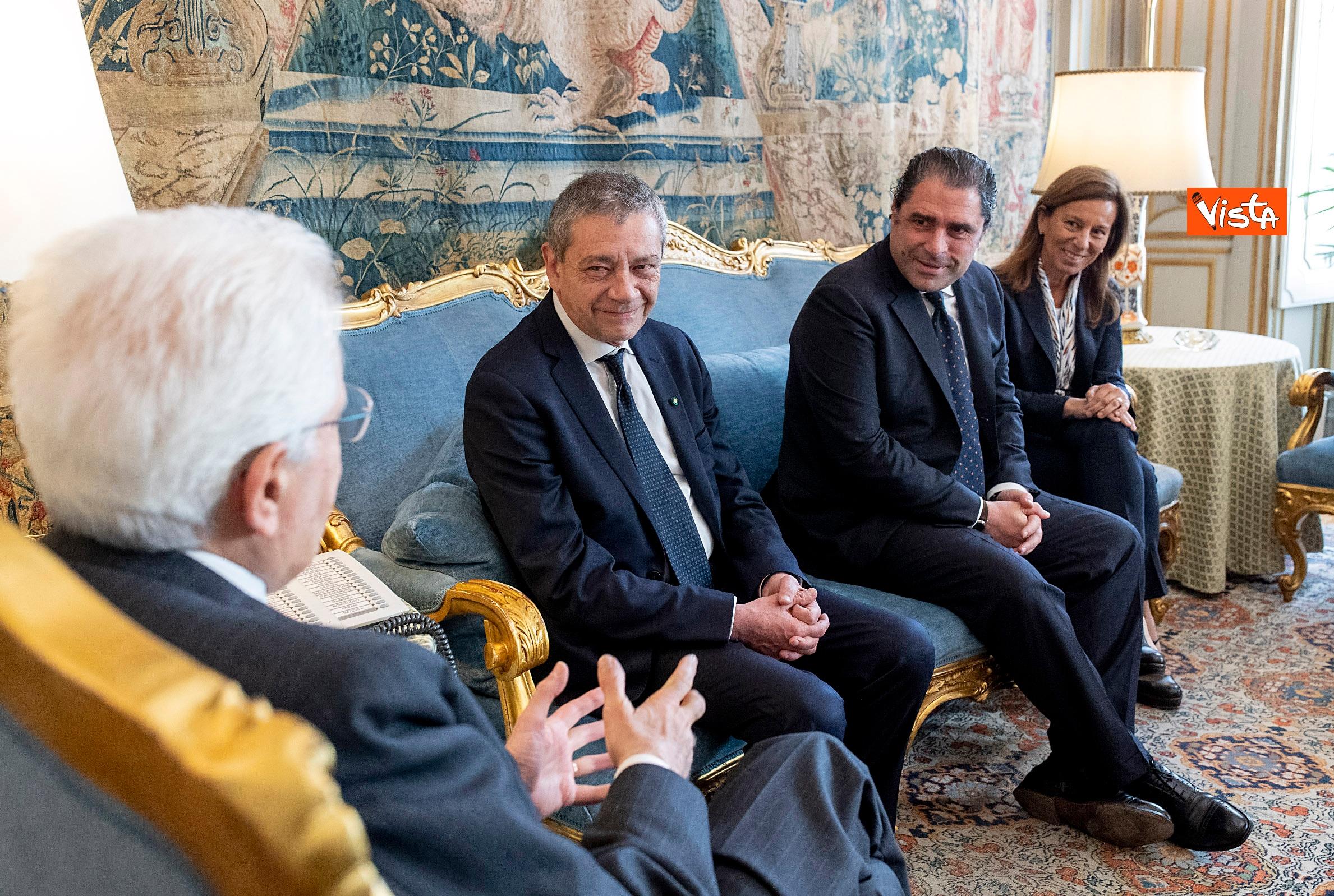 Mattarella incontra i vertici del quotidiano 'La Repubblica'
