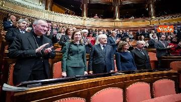 9 - Mattarella e le massime autorità dello Stato al concerto di Natale al Senato della Repubblica