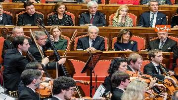 2 - Mattarella e le massime autorità dello Stato al concerto di Natale al Senato della Repubblica