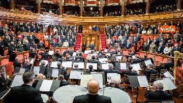 7 - Mattarella e le massime autorità dello Stato al concerto di Natale al Senato della Repubblica